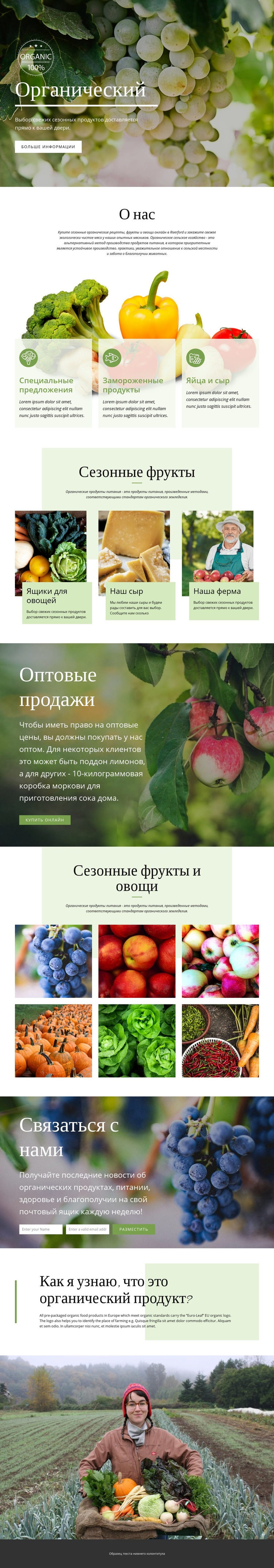 Здоровее с органическими продуктами HTML шаблон