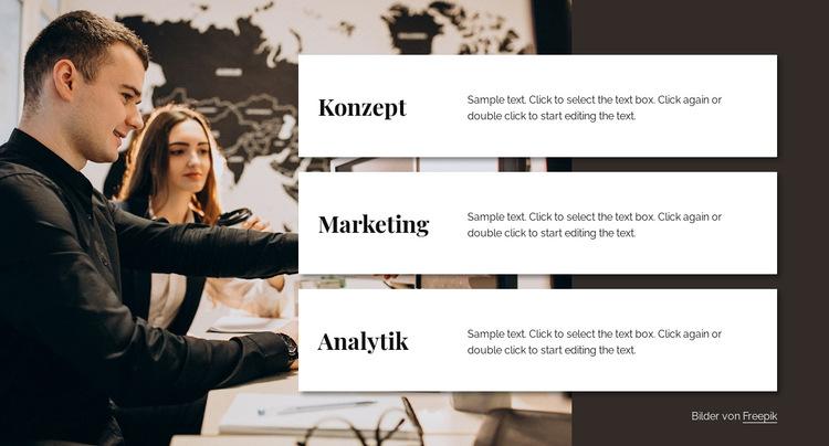 Analytics-Beratungsteam Website-Vorlage