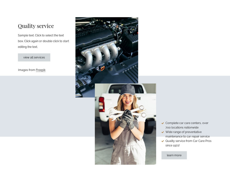 Quality car repair services HTML Template
