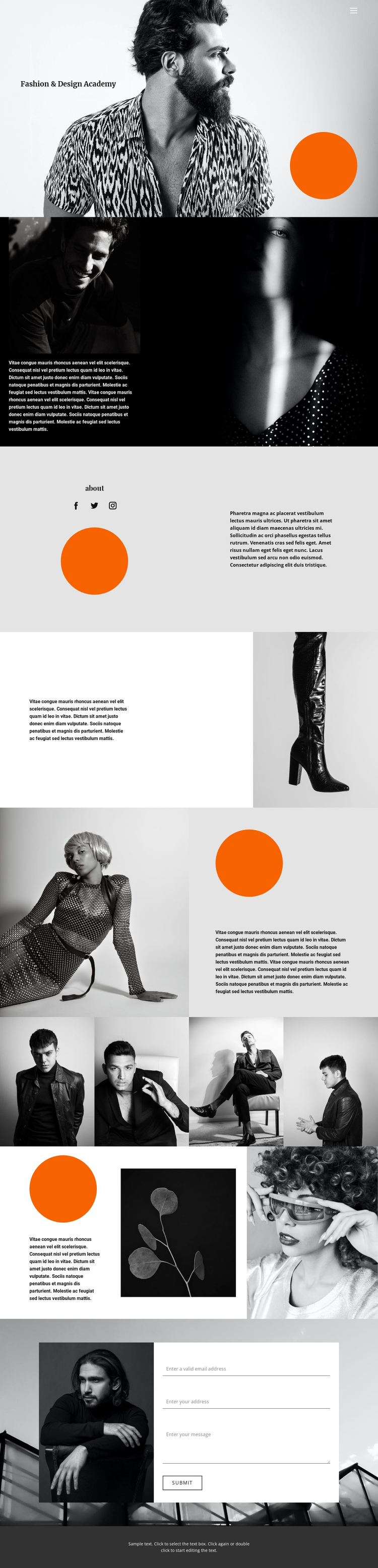 Choose your style One Page Template