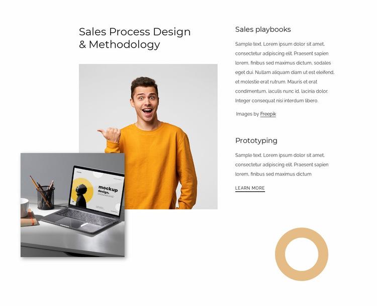 Sales process design Website Builder Templates