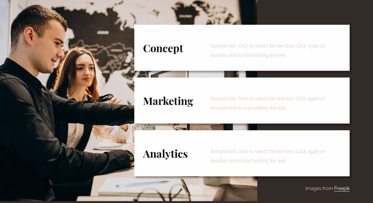 Analytics consulting team Website Template