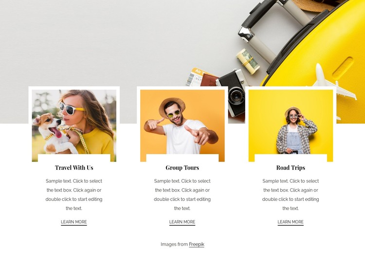 Well organised small group tours WordPress Template