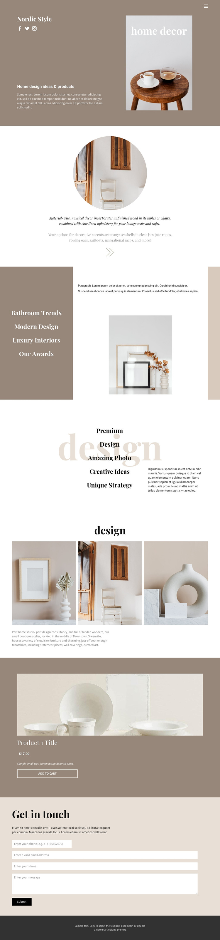 Cozy style at home HTML Template