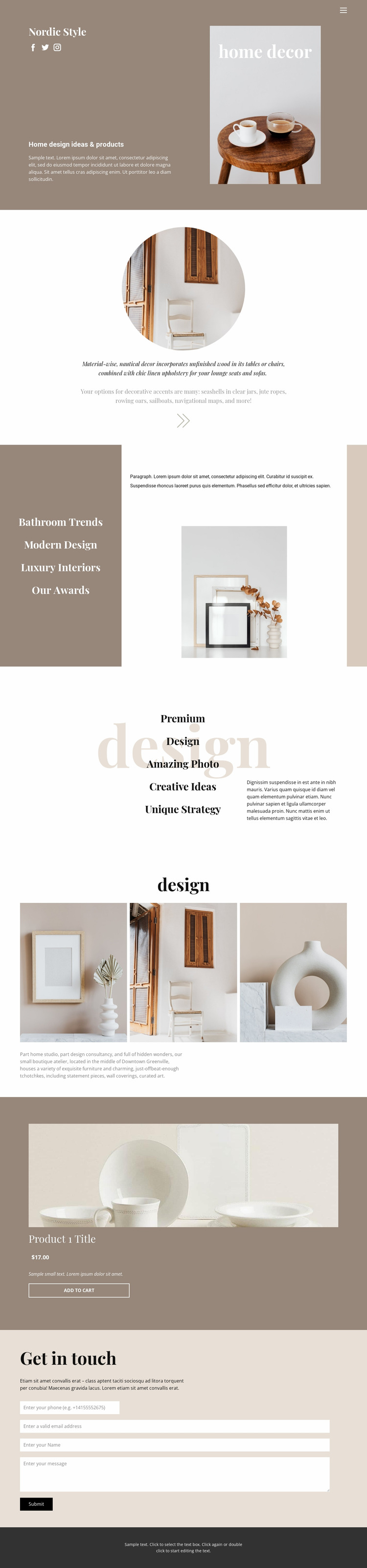 Cozy style at home Html Website Builder