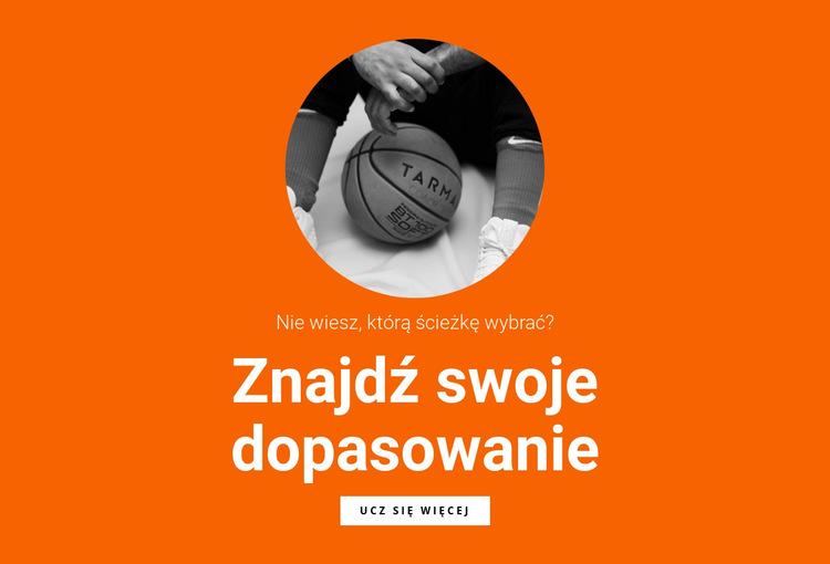 Drużyna koszykówki Szablon witryny sieci Web