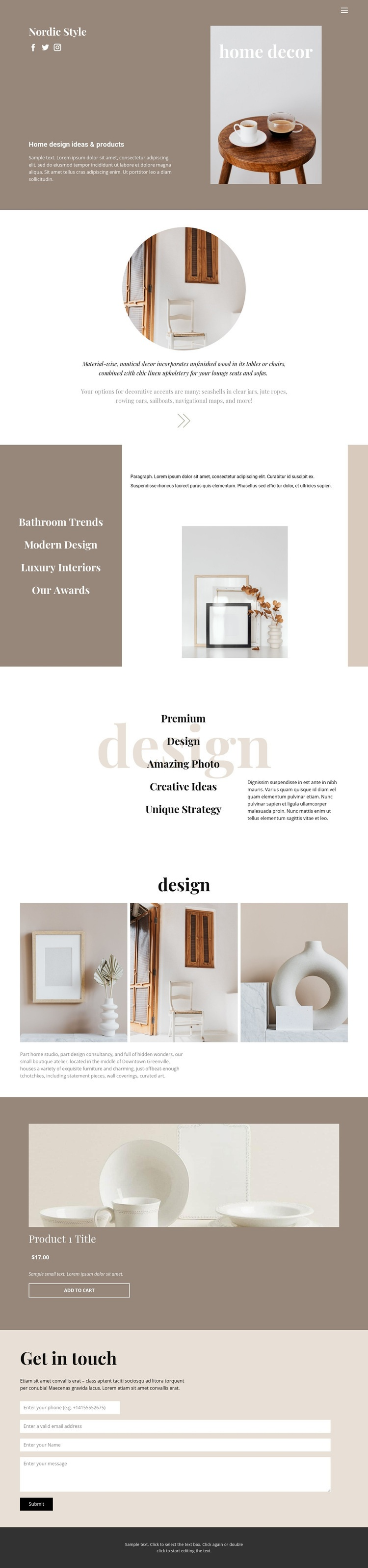 Cozy style at home Web Page Designer