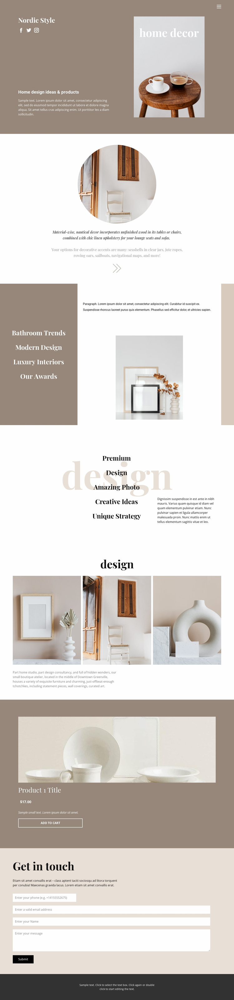 Cozy style at home Landing Page