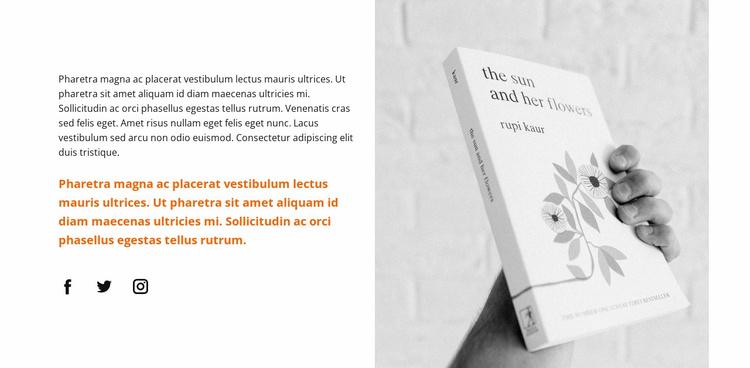 New literature Website Template