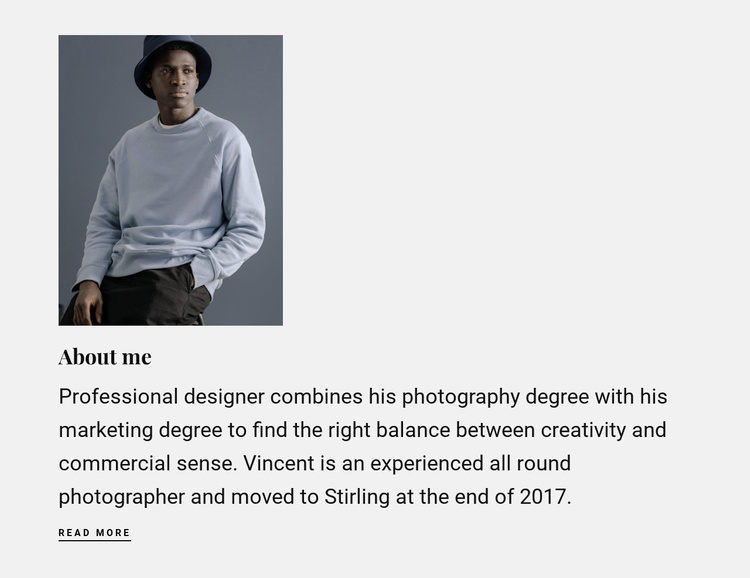 Information about my work Website Template