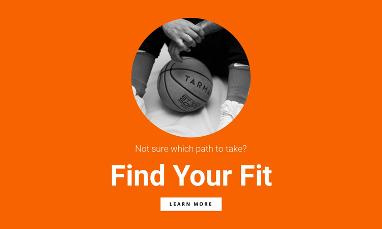 Basketball team WordPress Website Builder