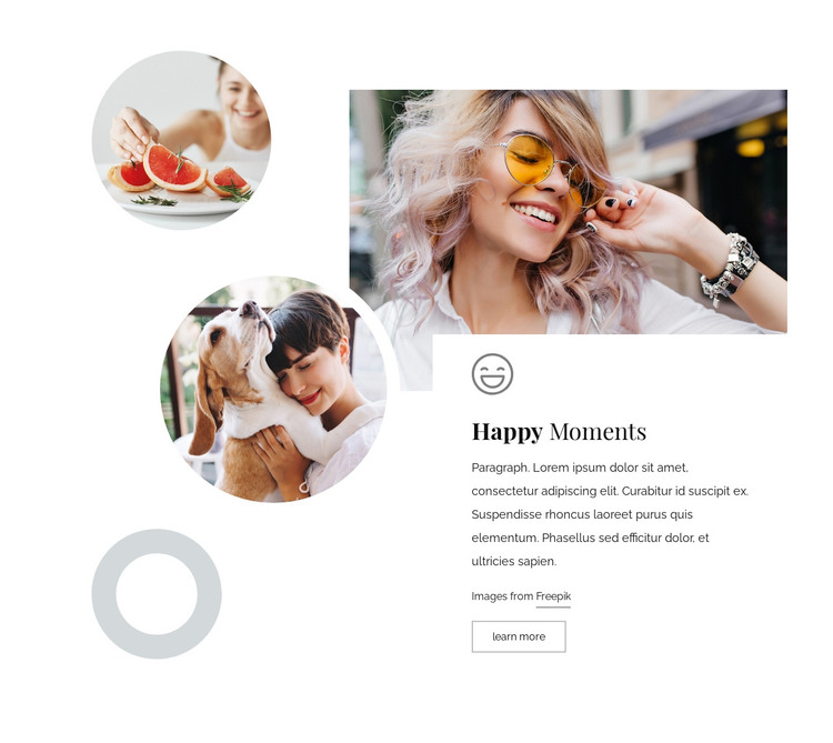 Happy moments HTML Template