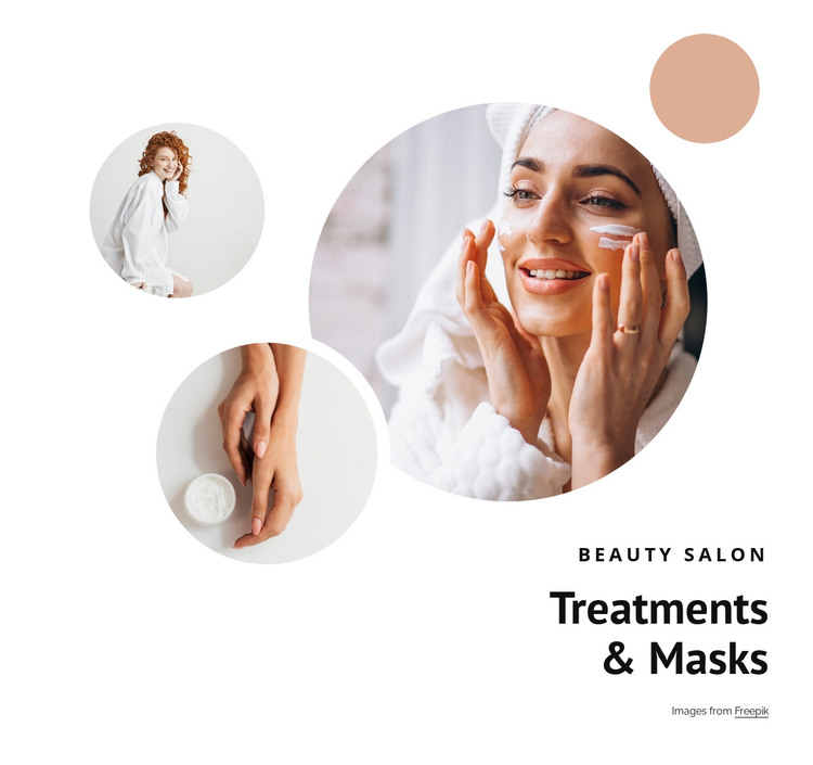 Treatments and masks HTML Template