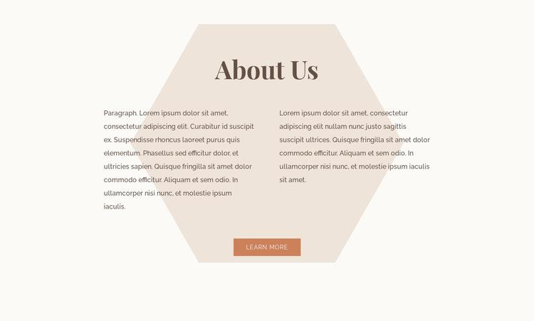 Text with hexagon Website Builder