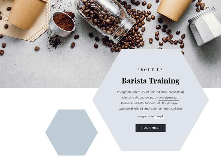 Barista training Website Builder Software