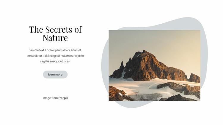 The secrets of nature Website Mockup