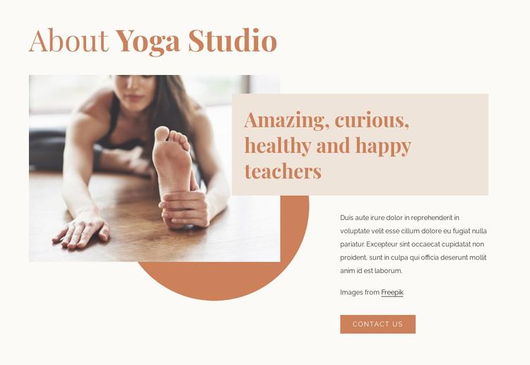 Amazing yoga teachers Website Template