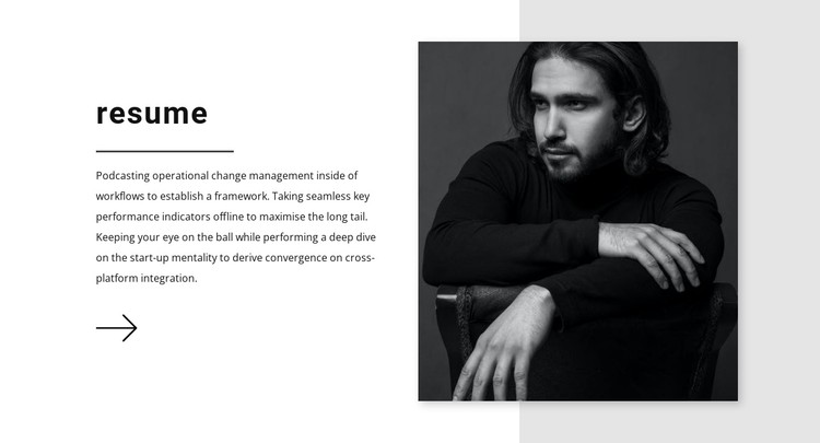Sales manager resume CSS Template
