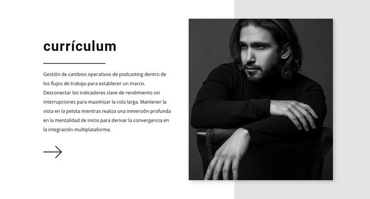 Currículum del gerente de ventas Plantilla de sitio web