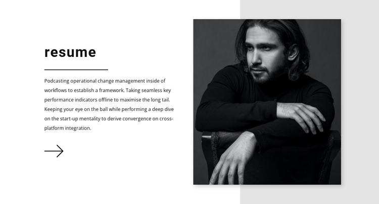 Sales manager resume HTML Template