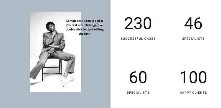 Success of our fashion agency HTML Template