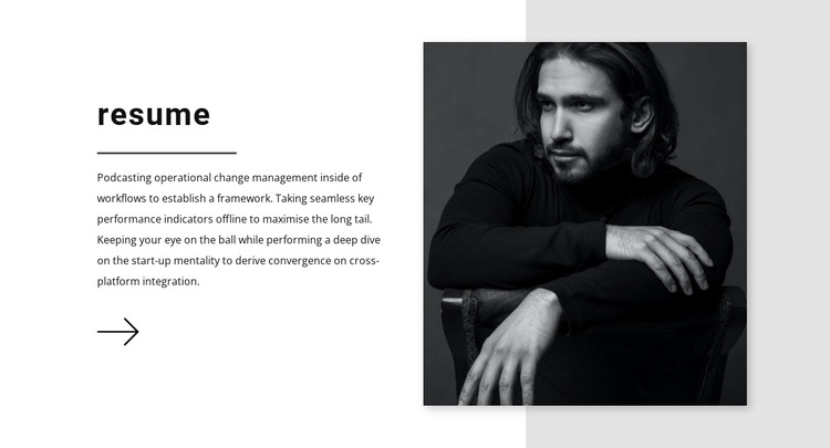 Sales manager resume HTML5 Template
