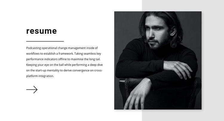 Sales manager resume Web Page Design