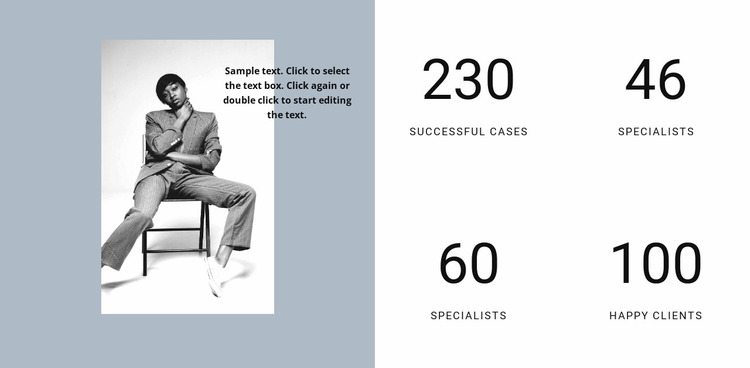 Success of our fashion agency Website Mockup