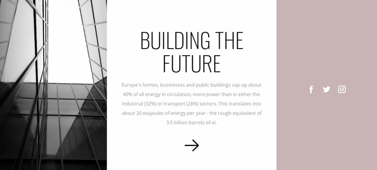 Build the future with us Website Mockup
