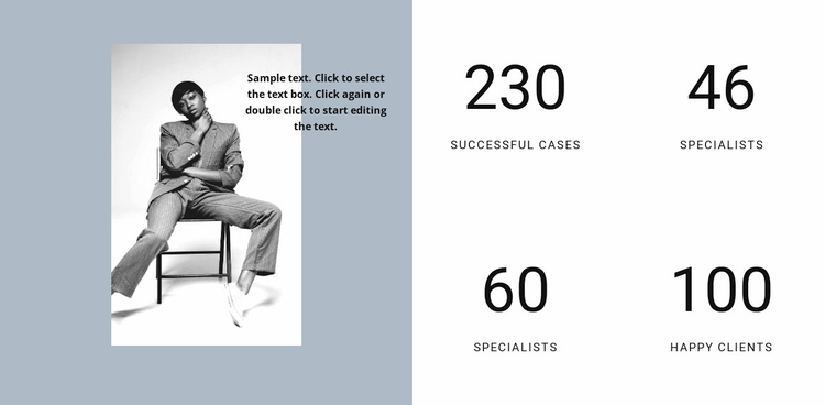 Success of our fashion agency Website Template