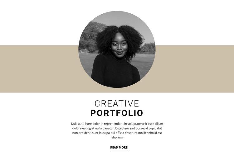 Creative designer portfolio Html Code Example