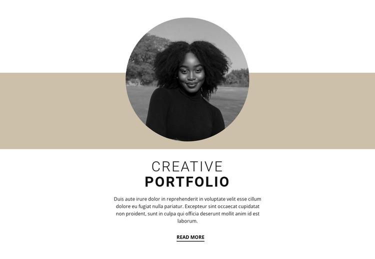 Creative designer portfolio HTML Template