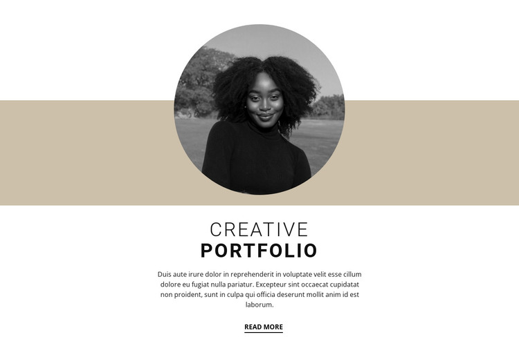 Creative designer portfolio Web Design