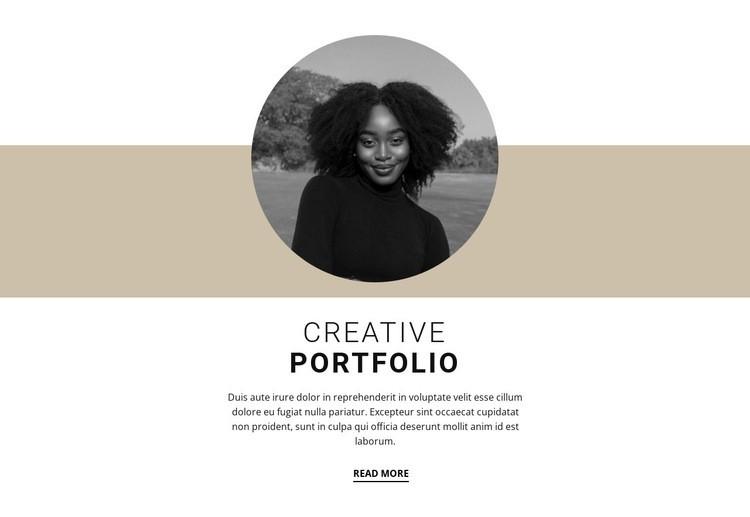 Creative designer portfolio Web Page Design