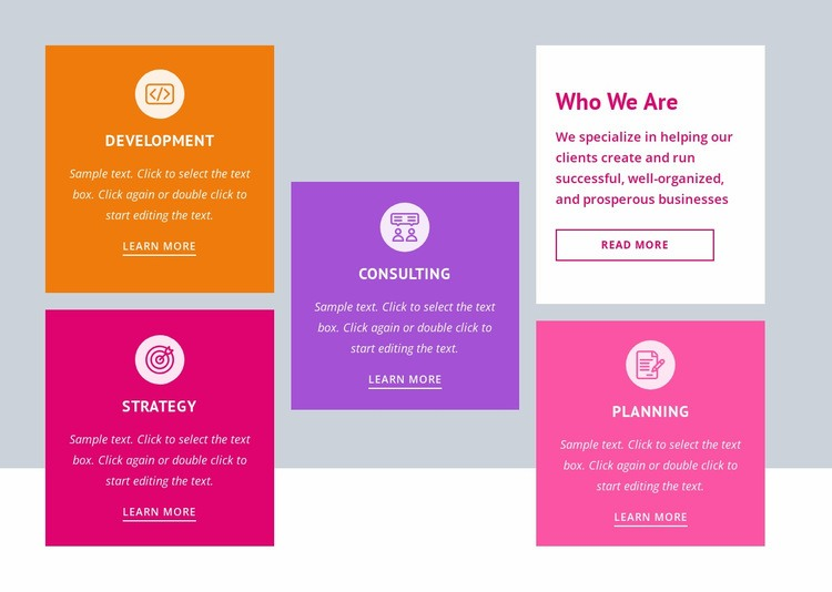 Strategy and business planning Web Page Designer