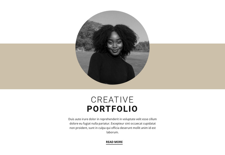 Creative designer portfolio Website Builder Software