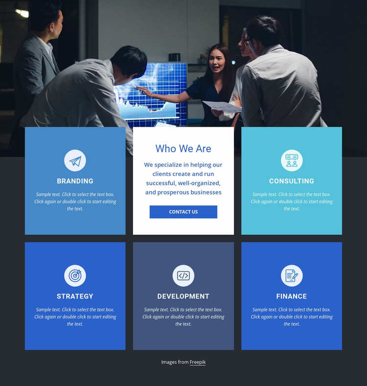 A leader in analytics consulting Landing Page