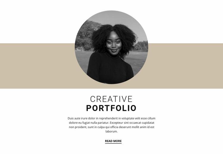 Creative designer portfolio Website Template