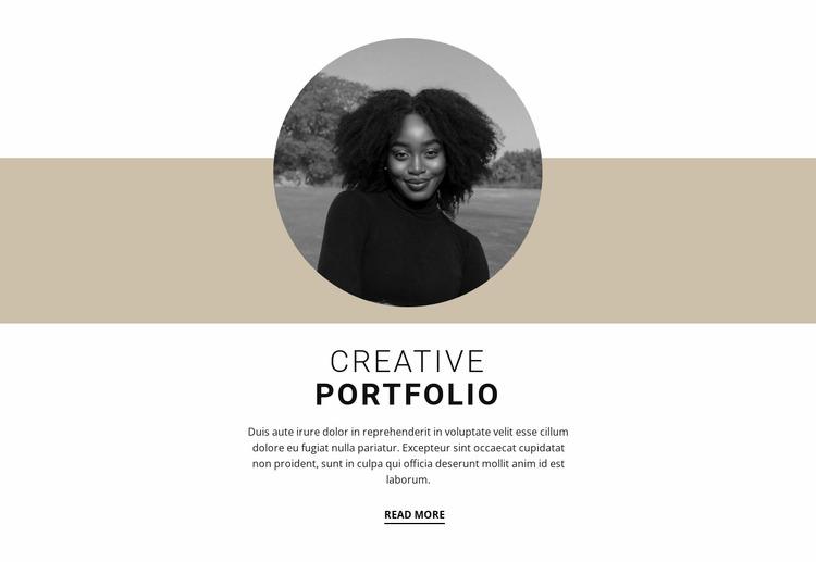 Creative designer portfolio WordPress Website Builder