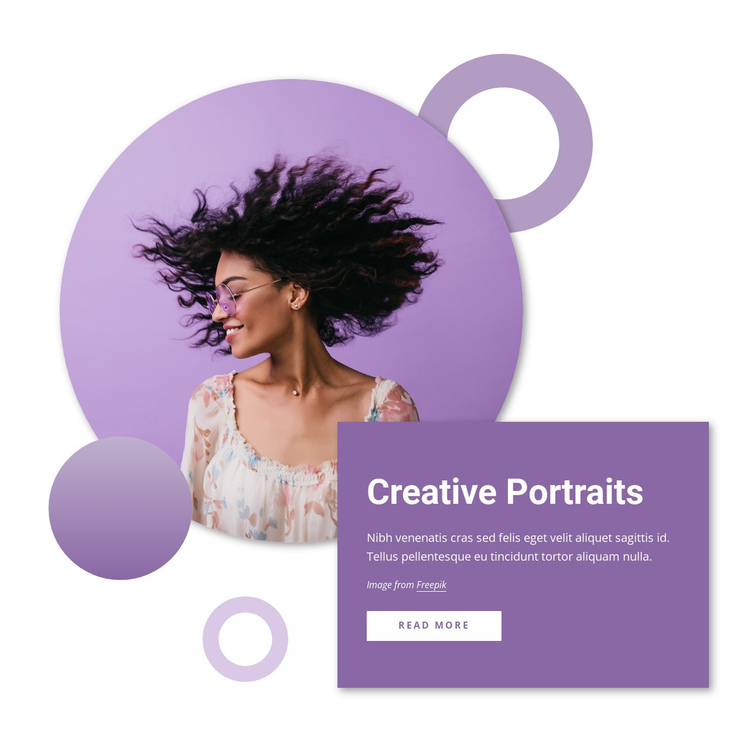Creative portraits Website Builder Software