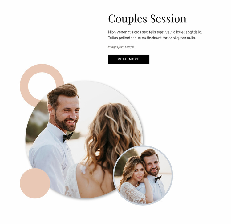 Couples session Website Template