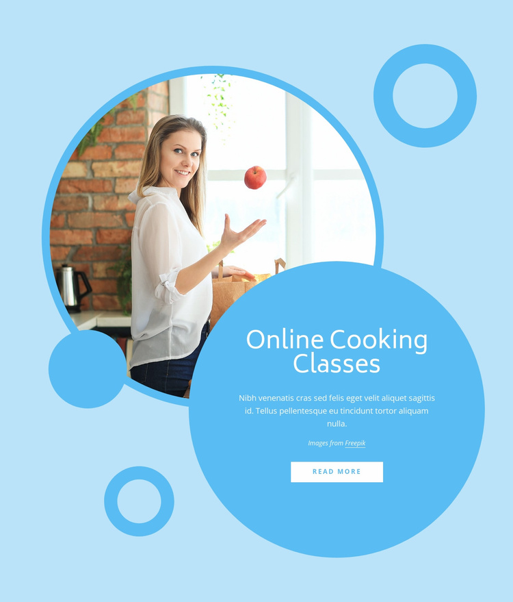 Cooking classes Website Template