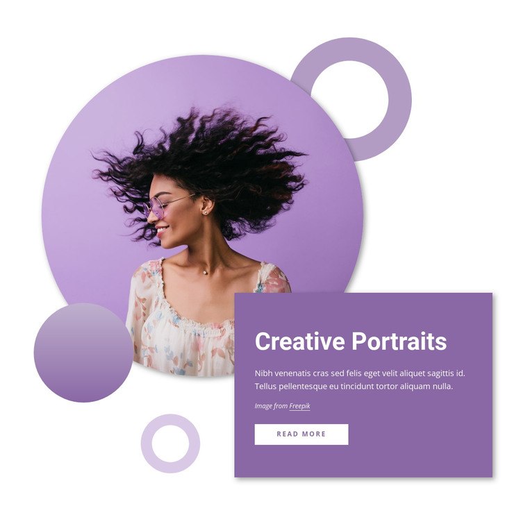 Creative portraits WordPress Theme