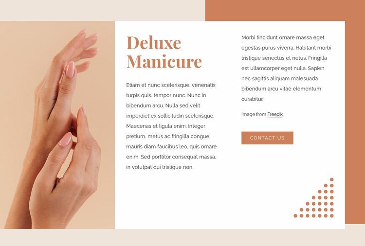 Deluxe manicure Website Mockup