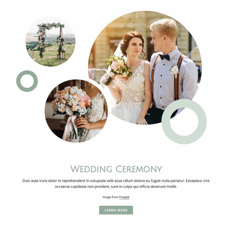 Wedding ceremony Html Website Builder