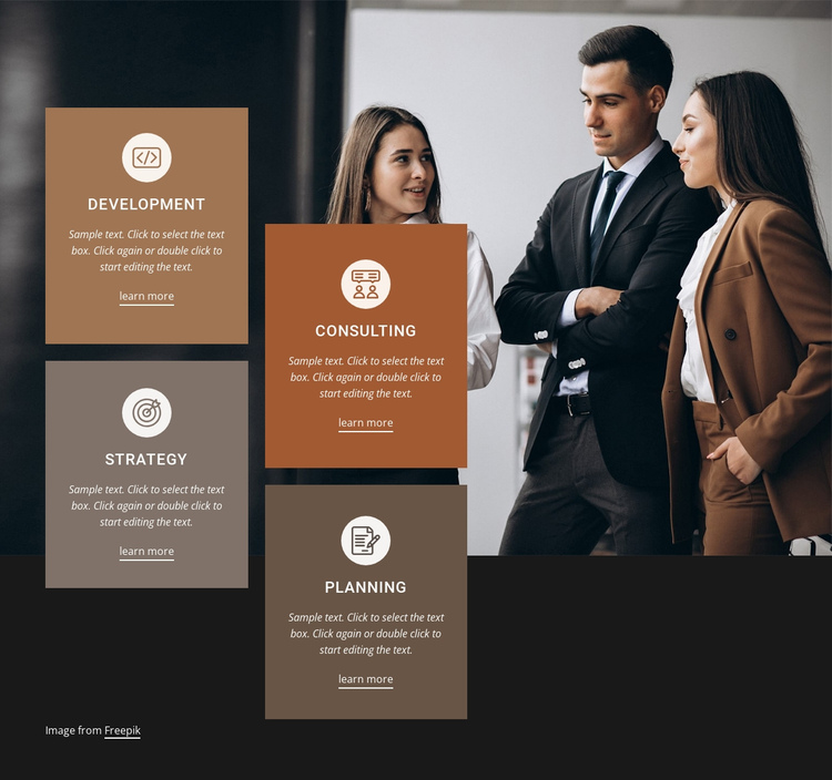 Consulting and development One Page Template