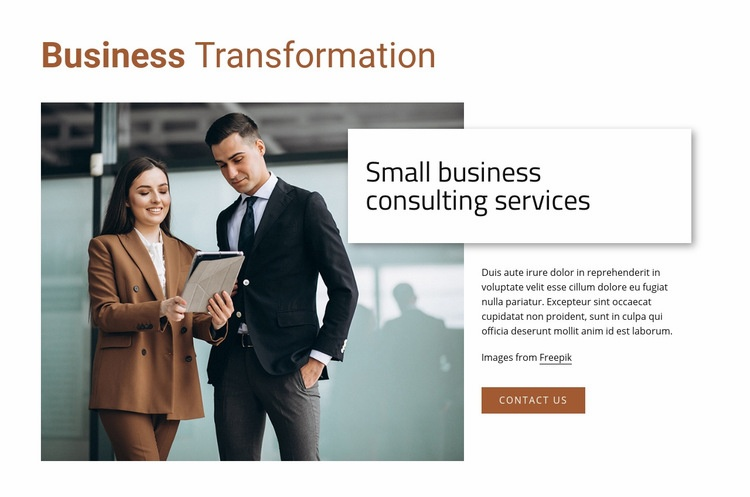 Small business consulting services Web Page Design