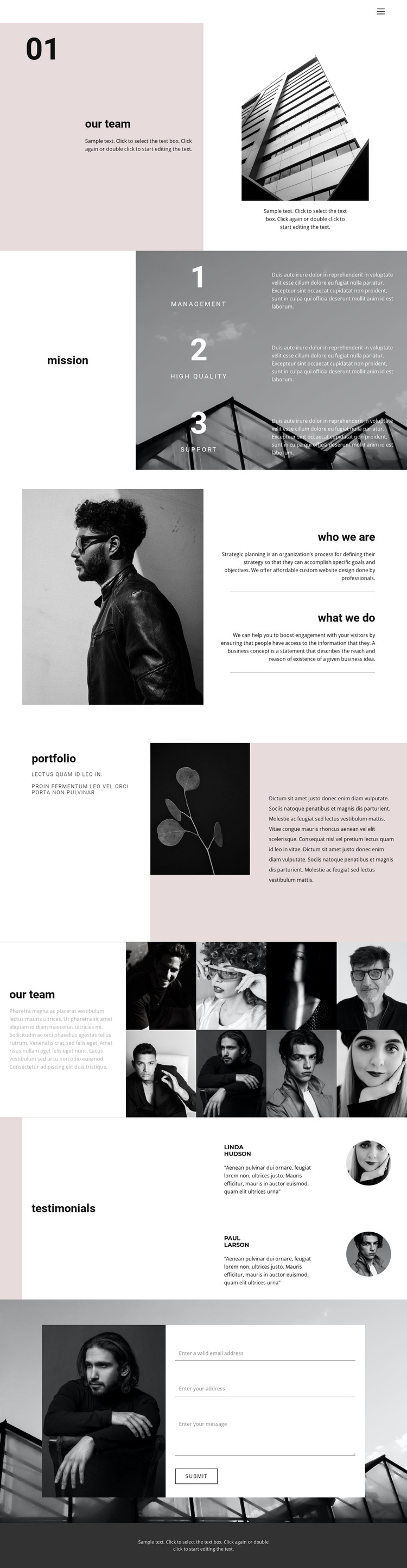 Young business company HTML Template