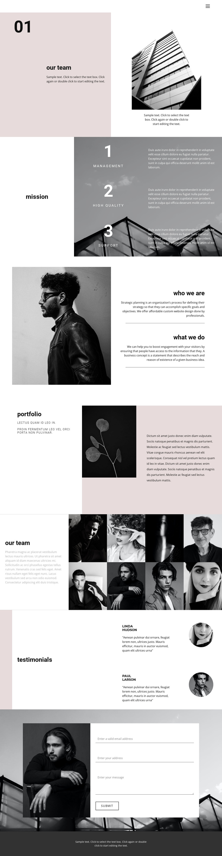 Young business company One Page Template