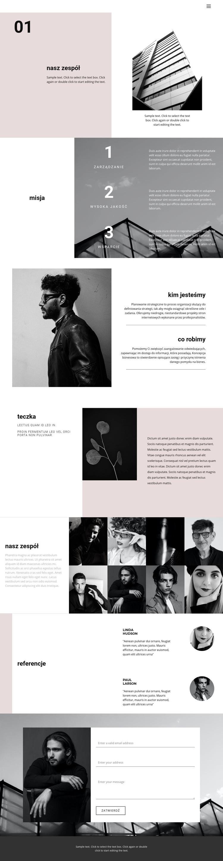 Młoda firma biznesowa Szablon witryny sieci Web